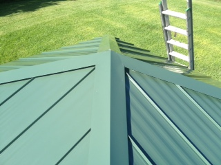 Standing seam roofing system.
